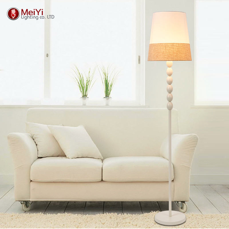 Modern Floor Lamp For Living Room European Fabric Lampshade lampara de pie Standing Lamp Floor Lighting Fixtures Free shipping modern 9w 12w 15w led floor lamp remote dimmable stand lights living room piano reading standing lighting led floor lighting