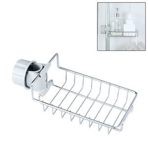 Stainless Steel Faucet Hanging Sink Storage Holder For Bathroom Kitchen Dish Cloth Drain Dry Towel Storage Rack Organizer(China)