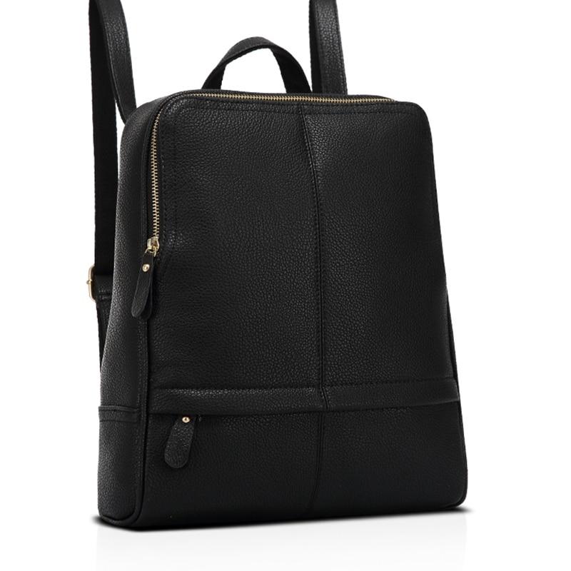 White Leather Backpack For Women Rivet Preppy Style Black Shoulder Bag Zipper Travel Red White Backpacks