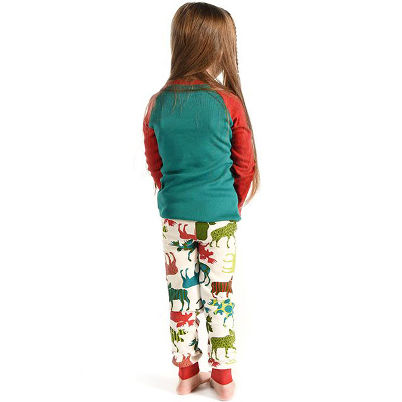 20b0a29a4f81 1 Sets Family christmas pajamas 2018 Elk family matching outfits Fashion  Patchwork Long sleeve Mama mom like father like son NMD-in Matching Family  Outfits ...