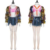Birds of Prey And the Fantabulous Emancipation of One Harley Quinn Costumes Cosplay Cheerleader Dress Outfit Halloween Costumes