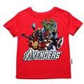 2017 estilo verão meninos camiseta assecla crianças Avengers t-shirt meninas do bebê crianças t-shirts criança de manga curta roupas para 2-14 t