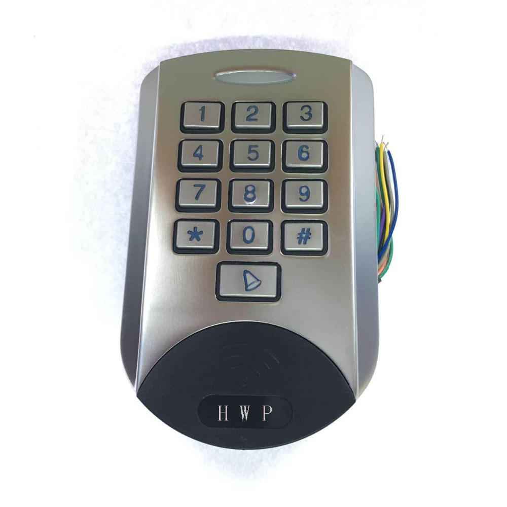 Metal keypad Metal access control Waterproof 125KHz Anti vandal Standalone keypad