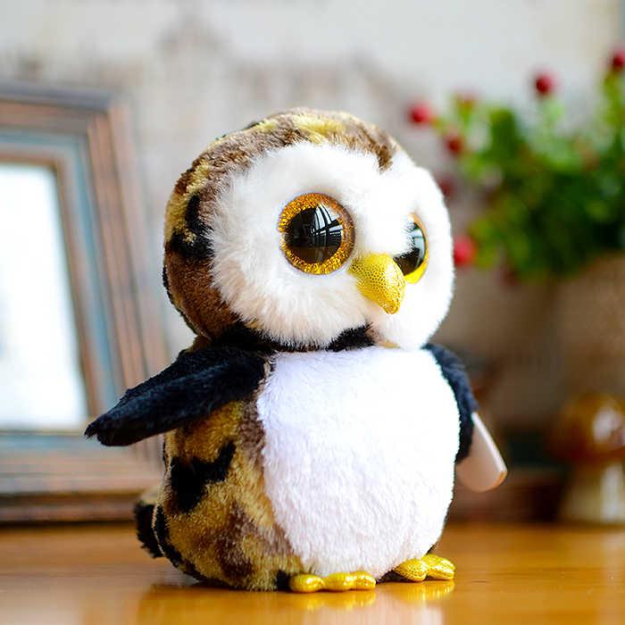 Ty Big Eyes бини Боос детские плюшевые игрушки камуфляжная сова милые детские подарки Kawaii милые мягкие игрушки/Животные Рождественский подарок