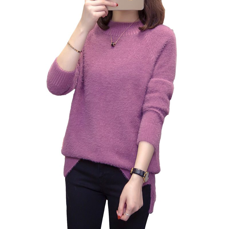 Image 5 - Plus Size Turtleneck Cashmere Sweater Women Autumn Winter Tops 