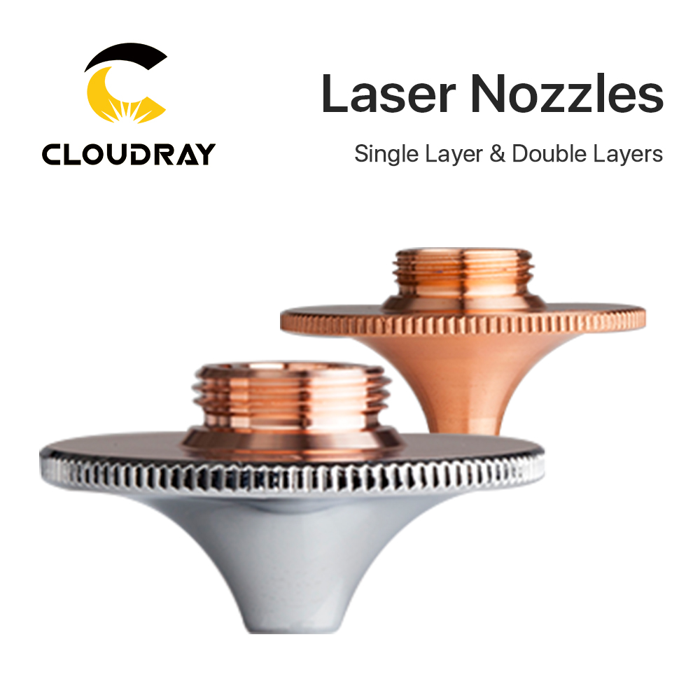 Cloudray Laser Nozzles Single Double Layer Dia.28mm Caliber 0.8 - 4.0 For FIBER Laser Cutting Head