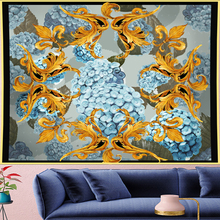 Court style Hydrangea Deconstruction Tapestry Vintage macrame painting retro flower Wall Hanging mandalas home decor GN.PAPAYA