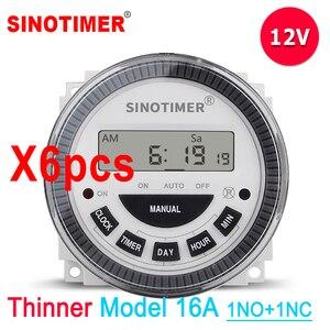 12 V 24 V 110 V 220 V Atacado 6 PCS Estilo Compacto TM619 Módulo Interruptor Do Temporizador Digital com 1 NO + NC 1 volt saída livre