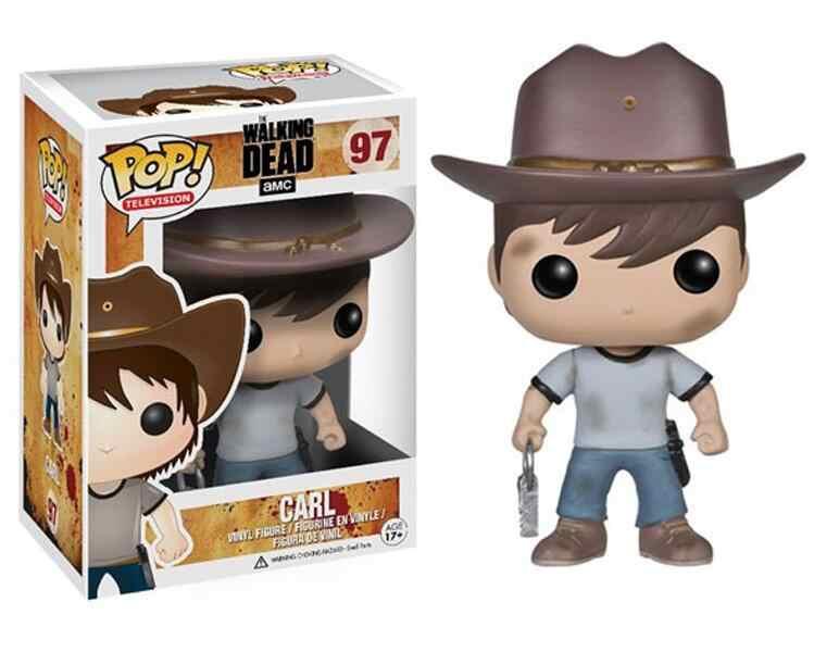 2019 funko pop the walking dead coleção modelo crianças menino brinquedos rick glenn carl figura boneca brinquedos