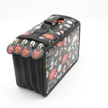 все цены на Pencil Case Estuche Kawaii Estuches Para Lapices Love Canvas Pouch Pennenzak Leather Etui Black School Pen Emoji Leather онлайн