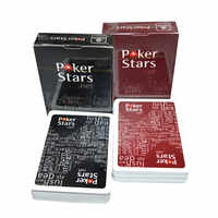 1 Sets/Lot Texas Hold'em Plastic playing card game poker cards Waterproof and dull polish poker star Board games