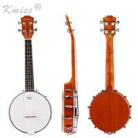 Kmise 4 String Banjo Ukulele Uke Ukelele Concert 23 Inch Size Sapele Wood