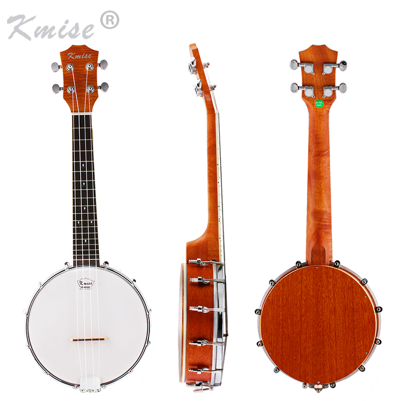 Kmise 4 String Banjo Ukulele Uke Ukelele Concert 23 Inch Size Sapele Wood kmise concert ukulele solid spruce ukelele uke 4 string hawaii guitar 23 inch 18 frets with gig bag
