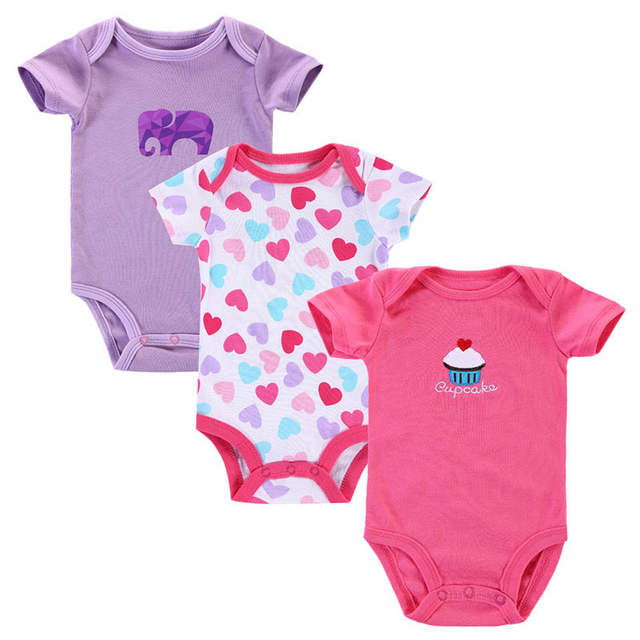 5d2695382 Online Shop Near Cutest 3pcs lot Newborn Baby Bodysuit Elephant ...