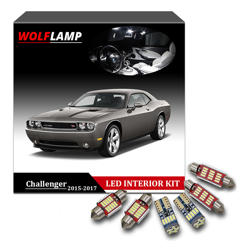 Wolflamp 12pcs ice blue canbus led interior car lights for - 2017 dodge challenger interior lights ...