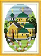 Joy Sunday Four season cabin-1 spring Diy Embroidery painting Cross stitch kit Needlework sets Cross-Stitching Wall Home Decro