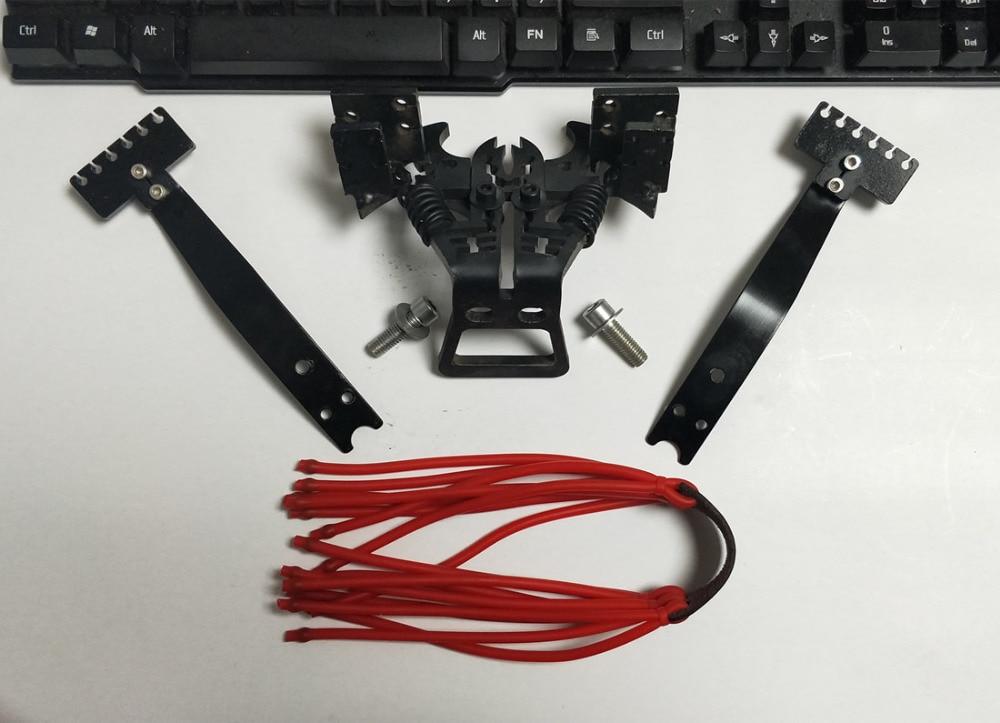 Slingshot DIY accessoires 20 sling bandes Puissante catapulte outil Robuste en acier au carbone Toute l'assemblée Type B