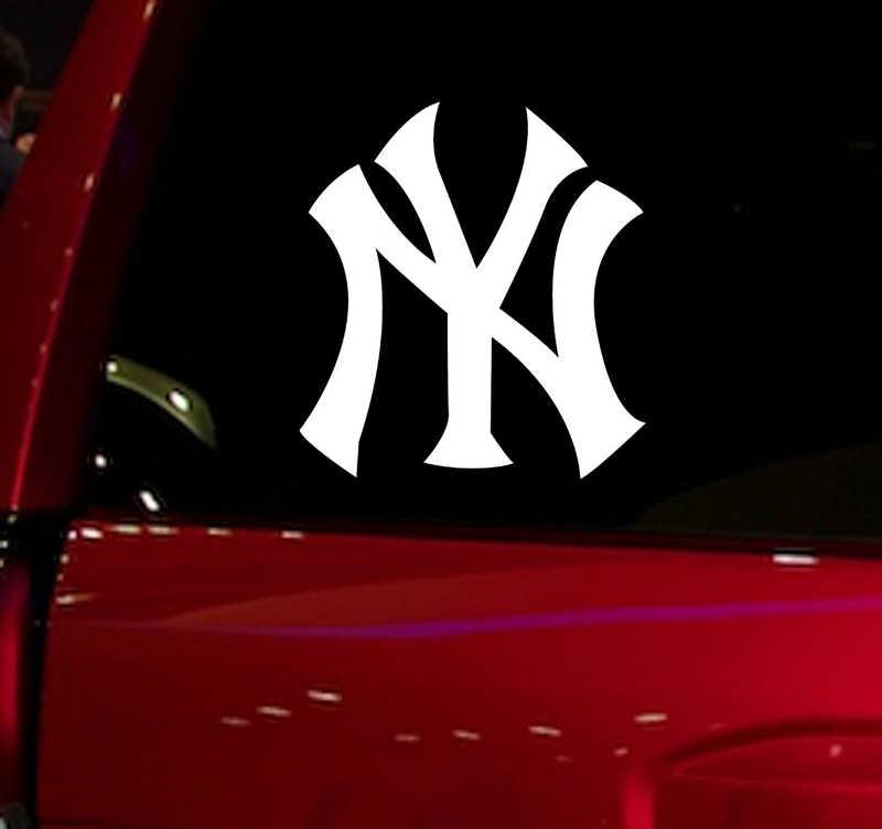Yankees NY бейсбольная игра авто стикер окна наклейка для автомобиля грузовик внедорожник Наклейка 5,5 ''автомобильные для окон виниловые вырубная наклейка белый