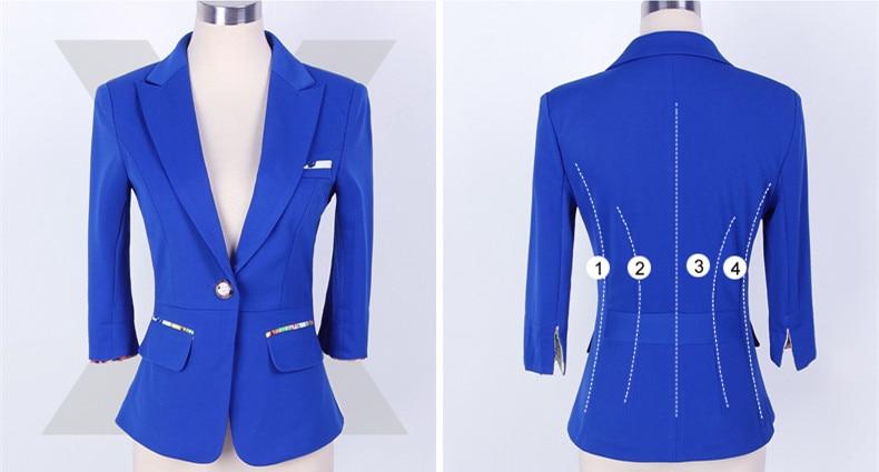 Dentellato Pulsante Xl Sportiva Vestito Donne Delle blu Nero Abbigliamento Femminile 3xl Sml Unico Tre Giacca 2xl bianco Il Quarti Sottile Dei Tuta Ol Formale Manicotto wqf0tCf