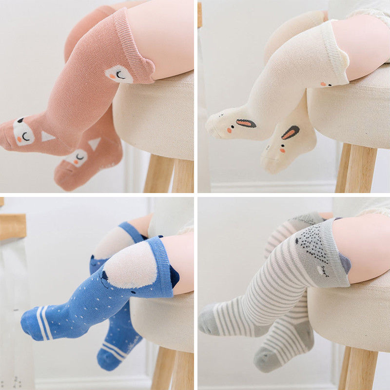 Cute Baby Leg Warmers Anti-slip Socks Boy Girl Cartoon Cotton NewBorn Infant Toddler Socks ...