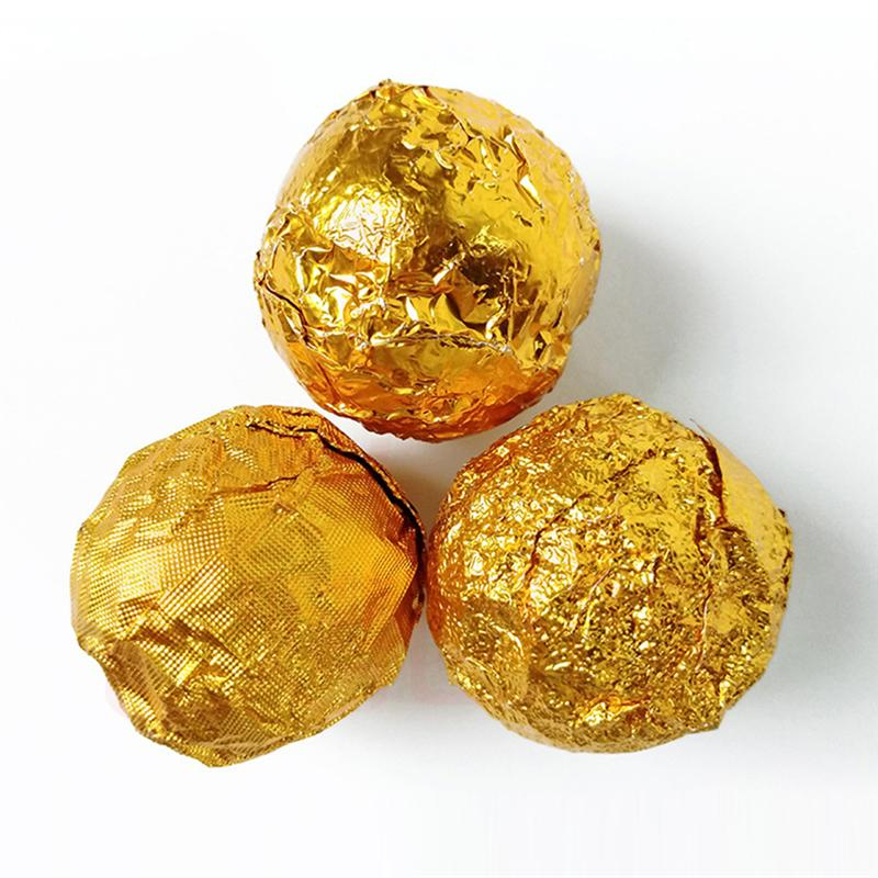 200pcs Foil Paper Golden Aluminum Foil Candy Chocolate Cookie Wrapping Tin Paper Party DIY Metal Embossing Gift Packaging