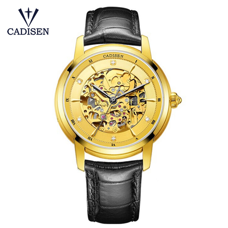 Skeleton Flower Mechanical Watch Men Automatic Classic Rose Gold Leather Mechanical Wrist Watches Reloj Hombre 2017 2017 new top skeleton tourbillon mechanical watch automatic men classic rose gold leather mechanical wrist watches reloj hombre