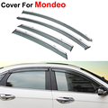 4pcs/lot Awning Shelters Vent Rain Sun Shield Window Visors For Ford Mondeo Fusion 5 2013 2014 2015 Covers Car Styling Guard