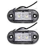 white car 2Pcs Set White 12V LED Car Side Marker Tail Light 24V Trailer Truck Lamp (1)