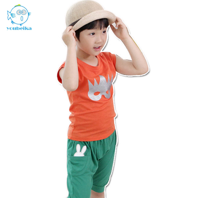 Baby Boys Clothing Set 2017 Summer Sets Of Clothes For A Boy Cotton Short Sleeves T-shirts And Casual Pants 2 Pcs Clothing Sets