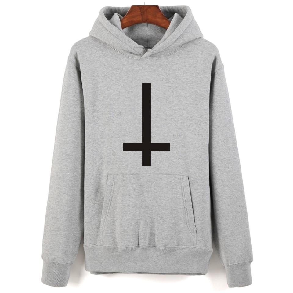 Satan Hoodies 2017 Autumn Mens black /gray hoodie and Sweatshirt hoody Men hooded for Men Streetwear Clothing Satan