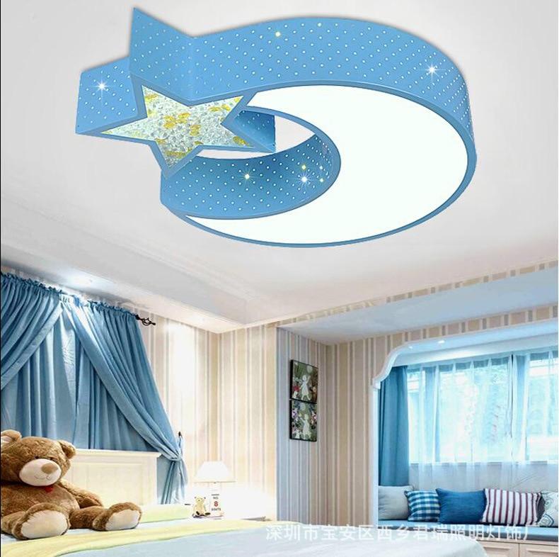 New children's lamp living room lighting simple modern LED ceiling lamp room master bedroom lamp warm romantic