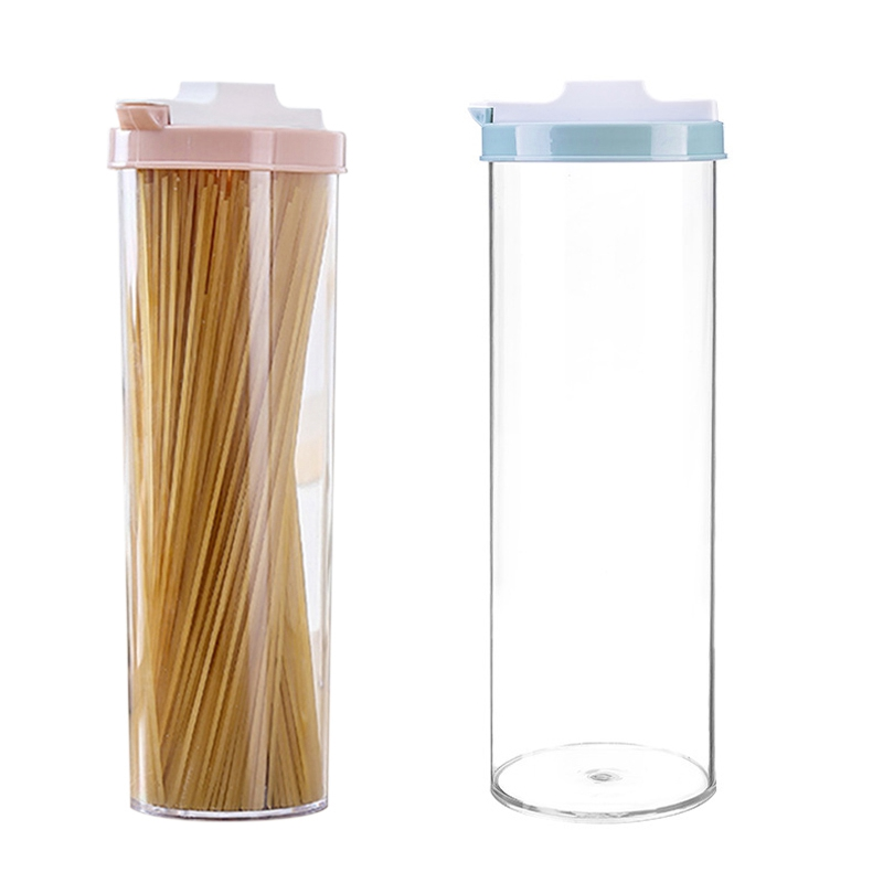 Hot Sale Seal Noodle Food Storage Box Airtight Cereal Rice Container Organizer Bottles Jars Kitchen Tool Transparent Bottles