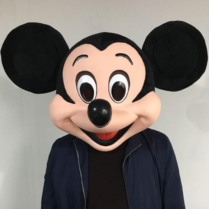 Immagine reale di Mickey Testa del costume della mascotte del vestito operato costumi di Mickey Mouse Del costume della mascotte