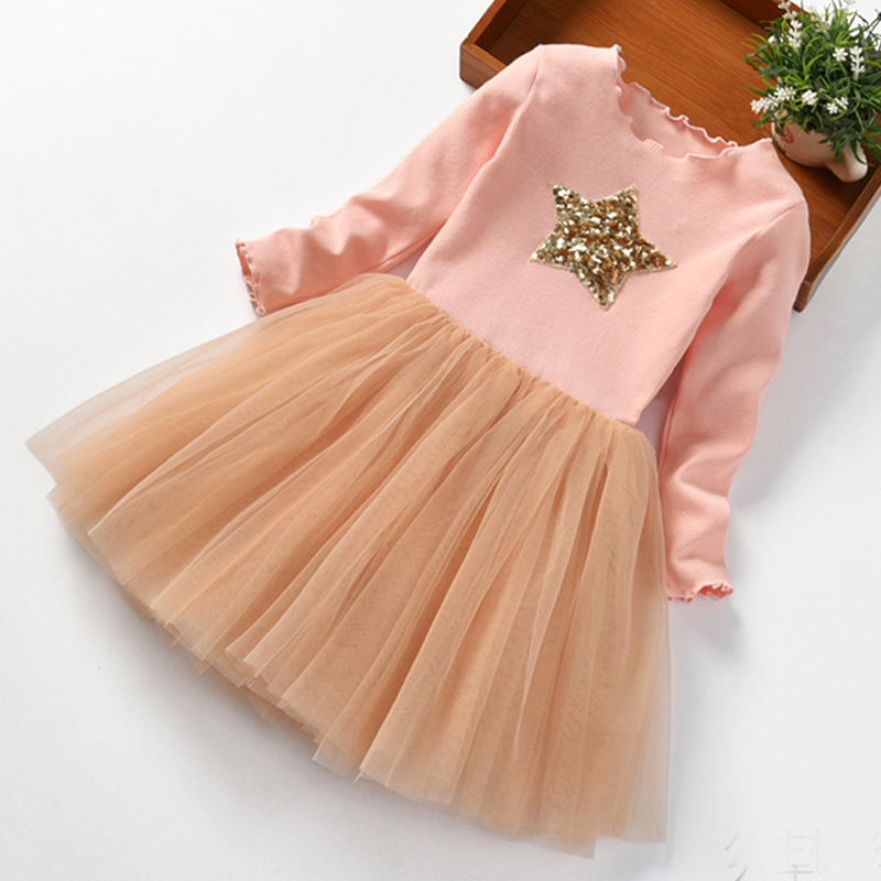 Brand Girls Clothes Super Star Design Baby Girls Dress Party Dress For Children Girls Clothing Tutu Birthday 3-8 Years Vestidos