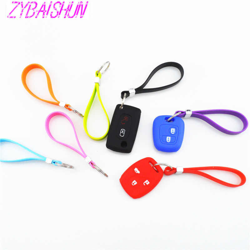 New Silicone Key Long Bracelet Key Spoon Portable Keychain for Volkswagen vw POLO Tiguan Passat CC Golf GTI R20 R36 EOS Scirocc