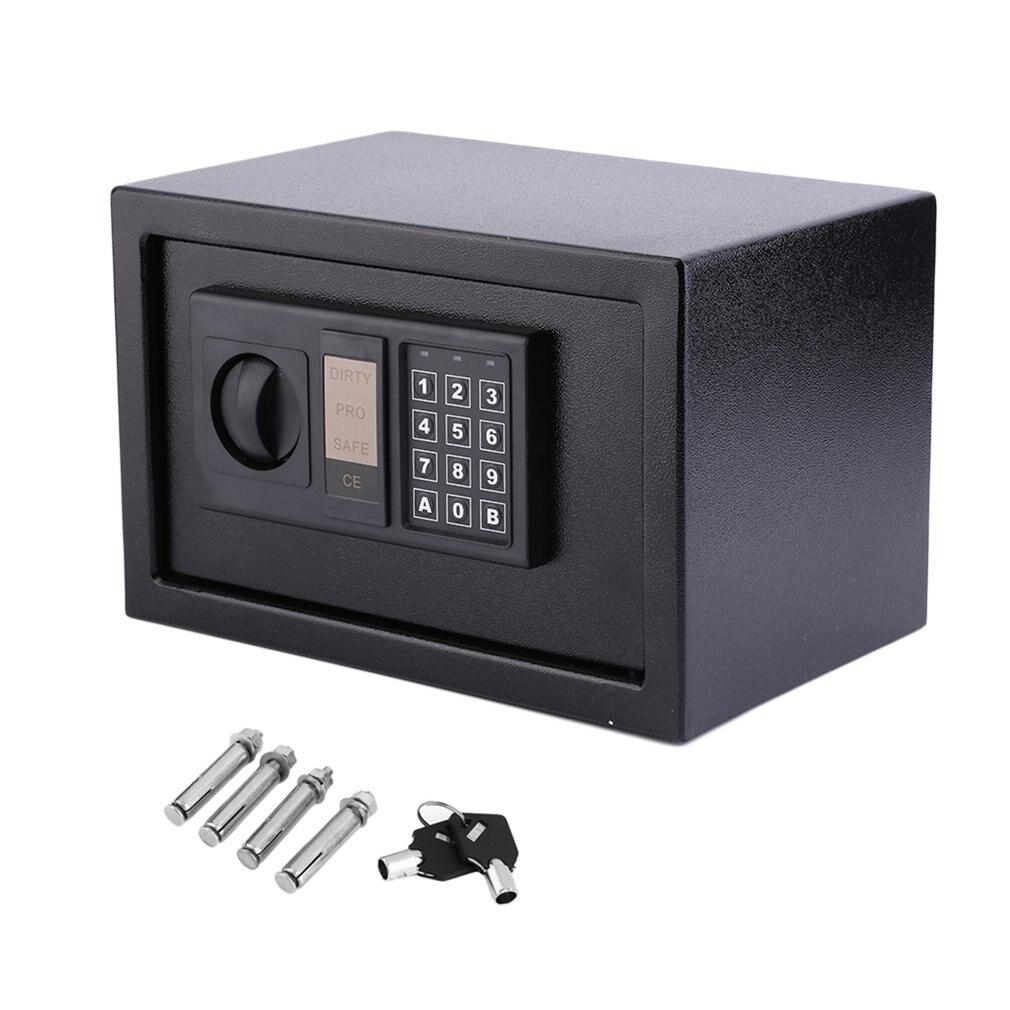 цена на Digital Electronic Coded Lock Home Office Safe Box & Override Key Programmed 3-8 Numbers Keypad with LED Indicator UK Warehouse