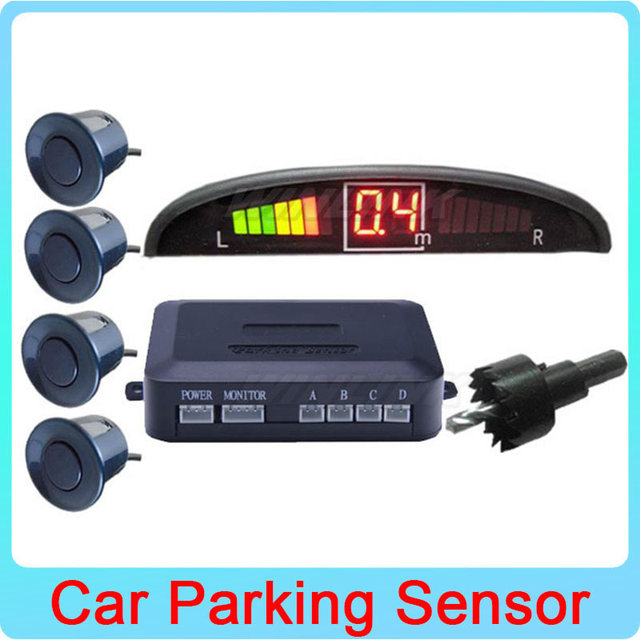 6 Colors Option Car LED Monitor Parking Sensor Auto Reverse Backup Radar Detector Parking Assistance System 4 Sensors