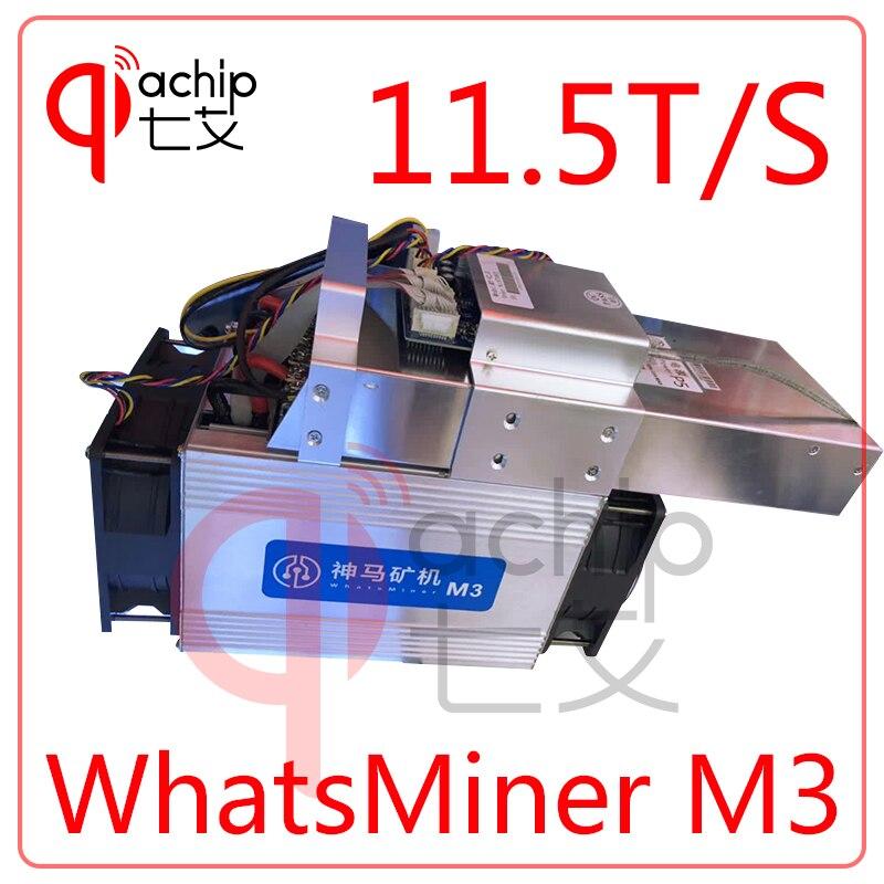 BrandNew WhatsMiner M3 BTC BCH mineur + PSU Asic Bitcoin Mineur 11.5TH/S (MAX 12 T/S) 0.17 kw/E mieux que Antminer S7 S9 T9 + V9