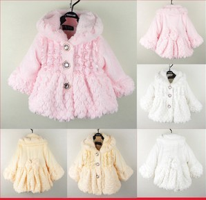 Free shipping Autumn and winter baby's clothing baby clothes child plush outerwear baby clothes female child autumn princess
