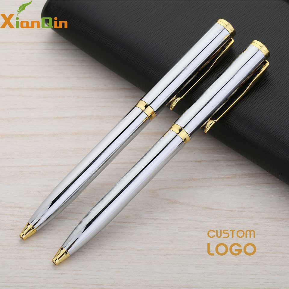 XianQin Custom Logo  Luxury Ballpoint Pen Metal Roller Ball Pen For Writing 0.7MM Refill Gift Stationery Office School Supplies