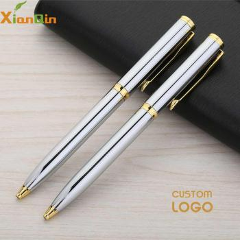 XianQin Custom Logo  Luxury Ballpoint Pen Metal Roller Ball Pen for Writing 0.7MM Refill Gift Stationery Office School Supplies new crystal ballpoint pen roller ball pen instead of fountain pen pencil box and bag brand gift stationery office school