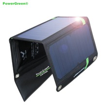 Portable Solar Battery Bank PowerGreen Foldable SUNPOWER Solar Panel Charger for Mobile Phone