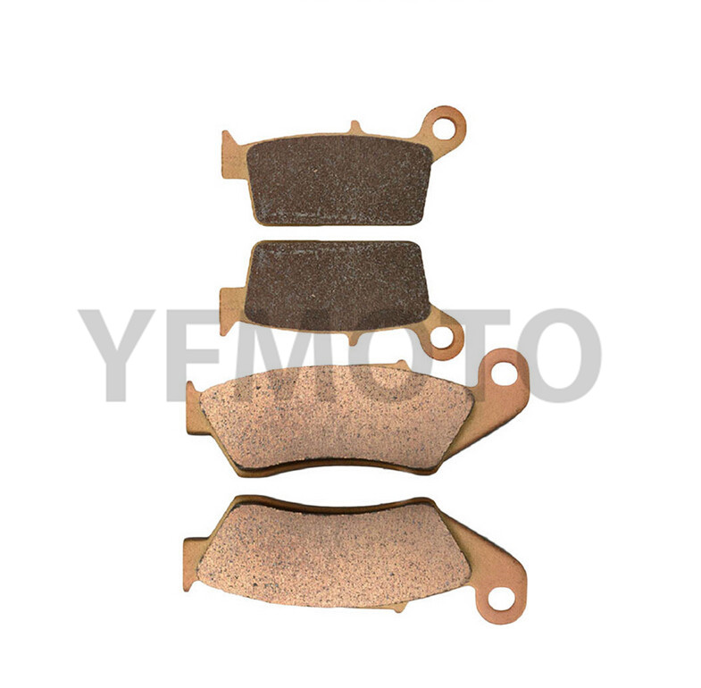 Motorcycle Front & Rear Brake Pads Kit For RMX250 RMX 250 1999-2000  Brake Disks Sintered & Copper Based 1999 2000 arctic cat 250 2x4 kevlar carbon front brake pads