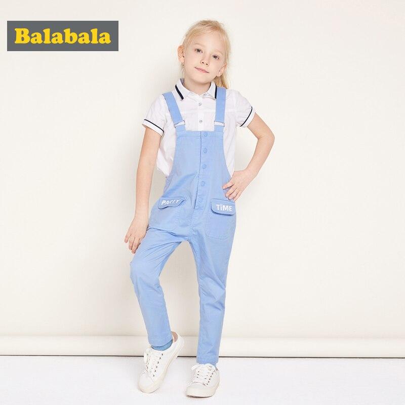 Balabala 2017 Denim Insgesamt für Mädchen sky blue Kinder baumwolle frühling lässige Jeans Kinder Overall Mädchen Overalls Kinder Kleidung