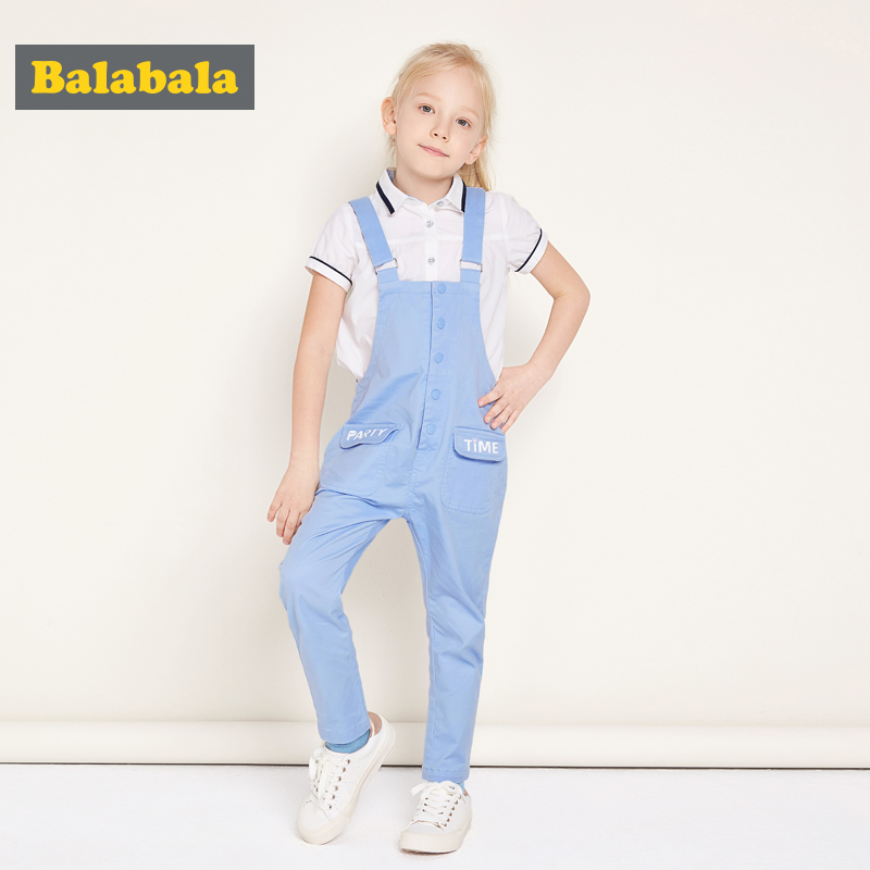 balabala 2017 Denim Overall for Girls sky blue Children cotton spring casual Jeans Kids Jumpsuit Girls Overalls Kids Clothing ...