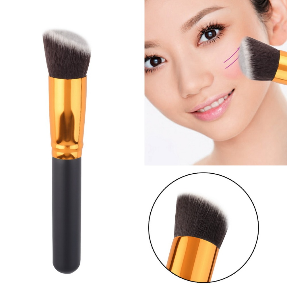 1pcs Professional Cosmetic Make up Powder Foundation Brush Blush Angled Flat Top Base Liquid Cosmetic Makeup Brush Tool top quality foundation brush angled makeup brush