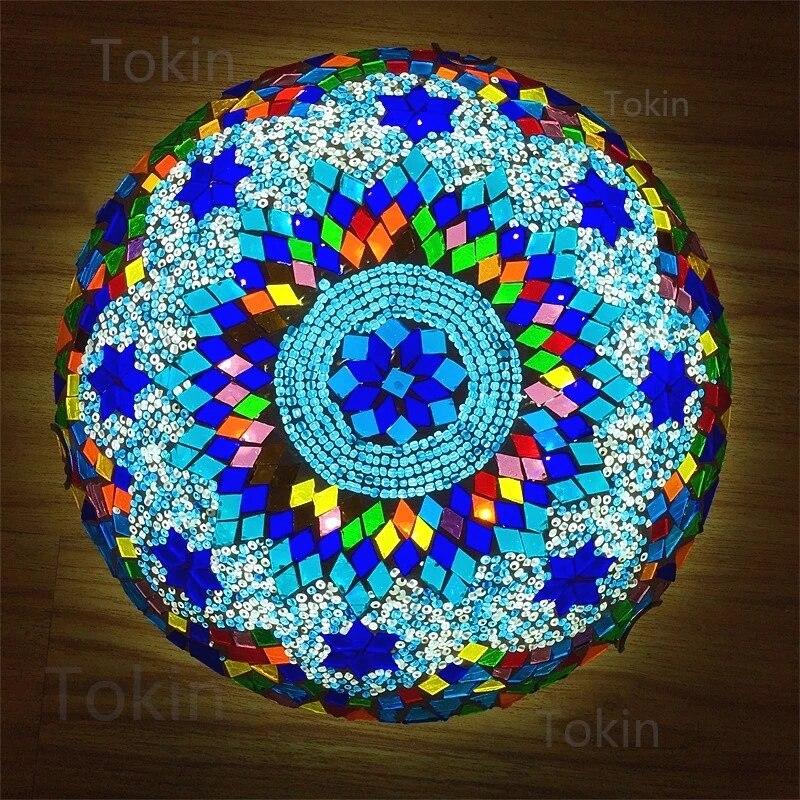 Newest Turkish Mosaic Ceiling Lamp Vintage Art Deco Handcrafted Lamparas De Mesa Glass Romantic Light Lamparas Con Mosaic Ceiling Lights Aliexpress