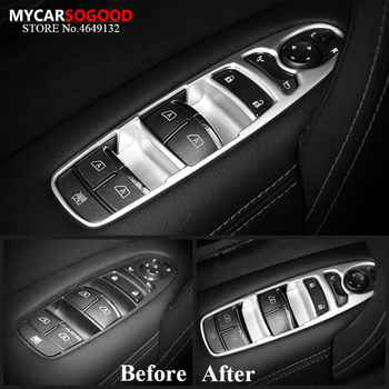 For Infiniti QX60 Q70 2013 2014 2015 2016 2017 2018 Matte Silver Window Switch Control Panel Cover Trim Car Styling Accessories