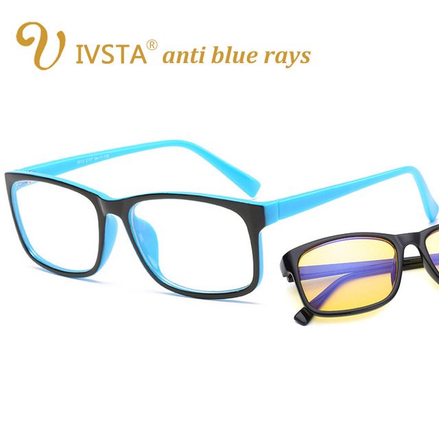 IVSTA anti blue rays computer Glasses Men Blue Light Coating Gaming Glasses yellow lenses protection eye Retro Spectacles H012