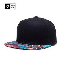 [WUKE] Famous Stars and Straps Snapback chapeau De Mode d'été impression Pur noir Marque Hip Hop Hommes Femmes Casquettes de Baseball Hip Hop Cap